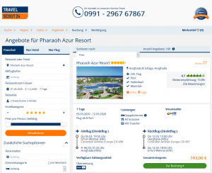Screenshot Hurghada Deal Pharaoh Azur Resort
