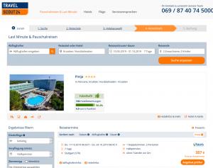 Screenshot Kroatien Deal Hotel Pinija
