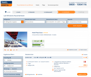 Screenshot Kroatien Deal Hotel Plaza Duce