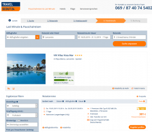 Screenshot Lanzarote Deal 4* VIK Villas Vista Mar
