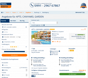 Screenshot Mallorca Deal Apts. Canyamel Garden