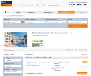 Screenshot Mallorca Deal R2 Bahia Cala Ratjada Erwachsenenhotel