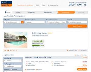 Screenshot Mallorca Deal SENTIDO Hotel Diamant