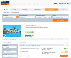 Screenshot Mauritius Deal Le Meridien Ile Maurice