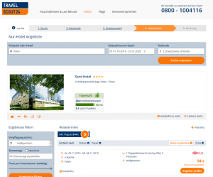 Screenshot Polen Deal Sand Hotel Kolberg