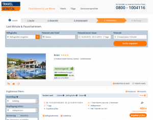 Screenshot Samos Deal Hotel Arion