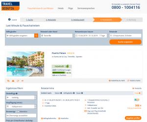 Screenshot Teneriffa Deal Puerto Palace