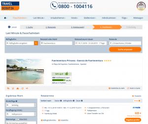 Screenshot Deal Fuerteventura Princess Hotel Esencia