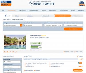 Screenshot Deal Türkei Yetkin Club Hotel