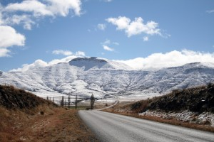 Südafrika Berg Schnee