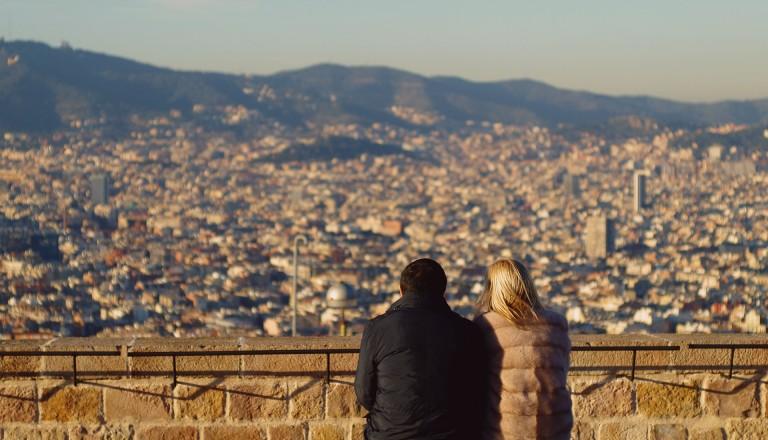 Touristen in Barcelona
