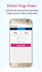Einfach Flüge finden auf dem Android Smartphone
