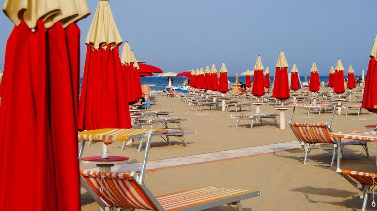 Strand Rimini Italien
