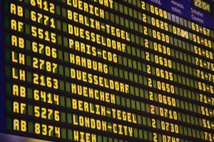 Flughafen Verdi Streik