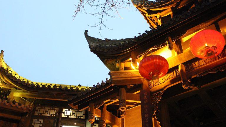 Chengdu bei Nacht