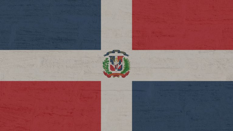 Dom Rep Flagge