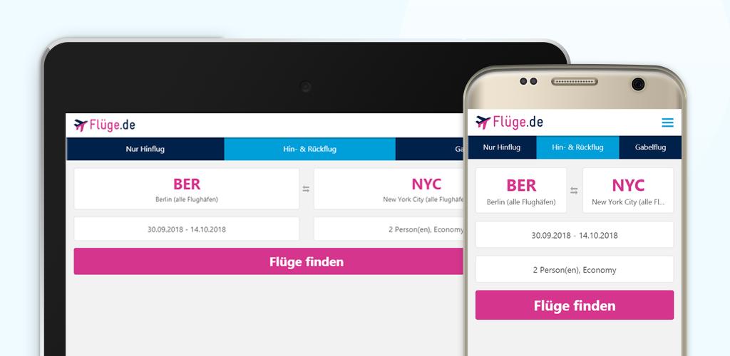 Flüge.de App für Iphone, Ipad & Flugsuche auf dem Android Smartphone oder Tablet