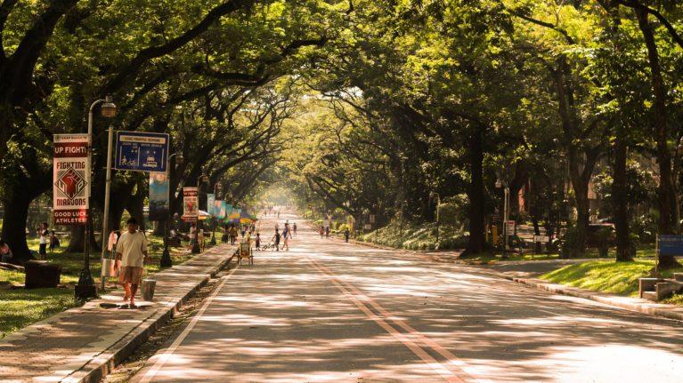 Straße in Manila