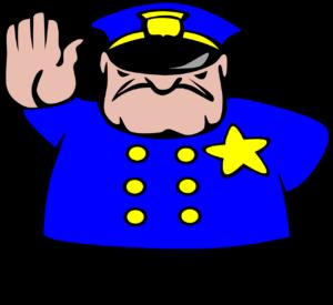 Polizei comic