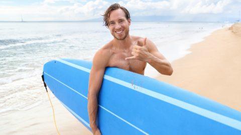 Surfer Geste