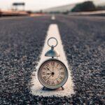 Uhr auf der Straße