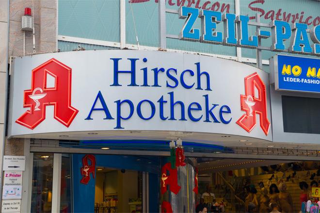 Hirsch Apotheke Zeil 3