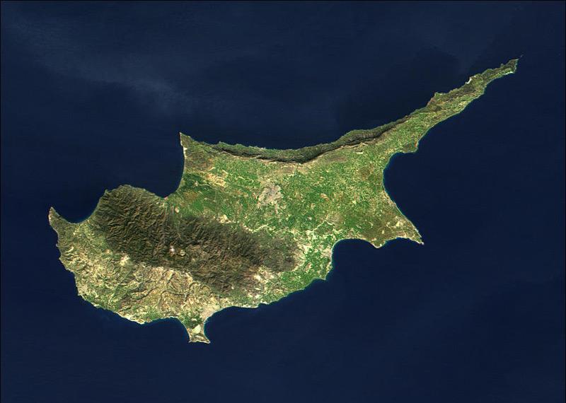 Satellitenansicht Zyperns von der NASA