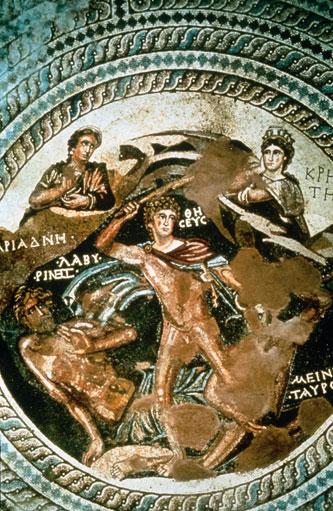 Theseus Kampf gegen den Minotaurus – Der Ariadnefaden