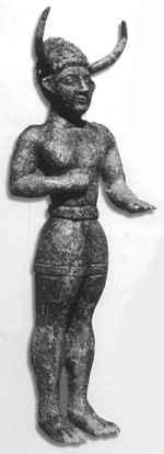 Bronzestatue des römischen Kaisers Severus