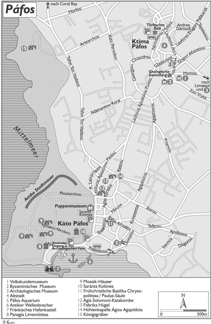 Pafos Umgebungsplan